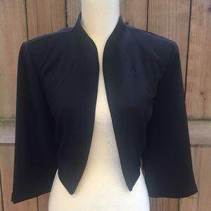 🆕Dressbarn Woman Collection Black Open Bolero EUC
